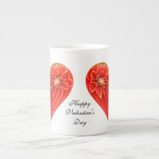 dalia del corazón taza de porcelana