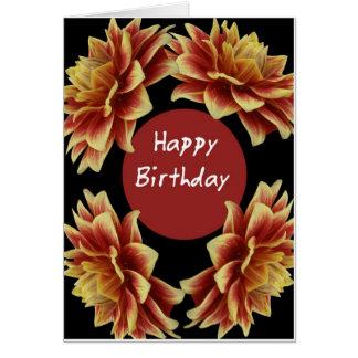 Dalia del feliz cumpleaños tarjeta