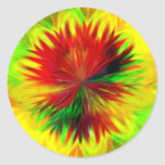 Dalia del resplandor solar pegatina redonda
