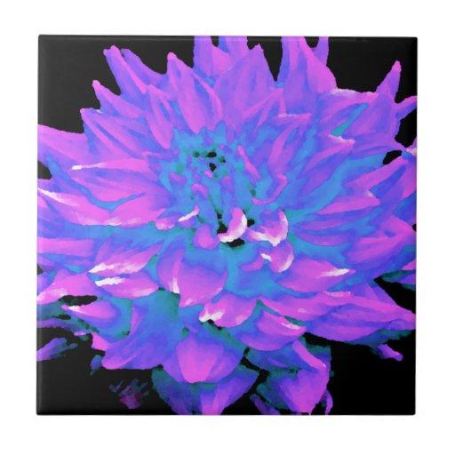 Dalia - luna de miel - huerta radiante azulejo cuadrado pequeño