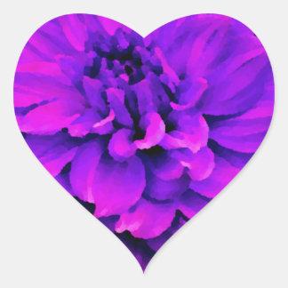 Dalia - luna de miel - huerta radiante pegatina en forma de corazón