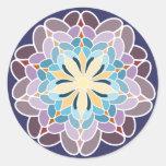 Dalia multicolor pegatinas redondas