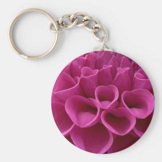 Dalia púrpura del panal en productos múltiples llavero redondo tipo pin