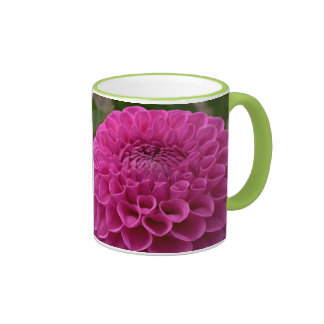 Dalia púrpura del panal en productos múltiples taza a dos colores