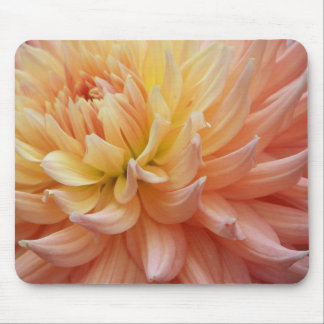 Dalia que brilla intensamente Mousepad floral
