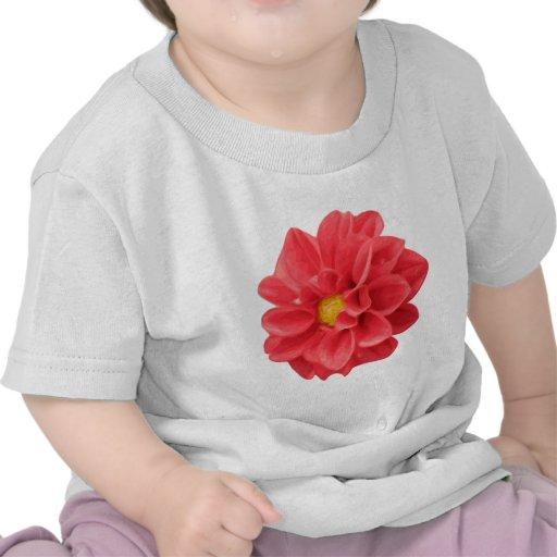 Dalia roja camisetas