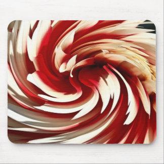 Dalia roja y blanca de Whirlpool Mouse Pads