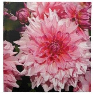 Dalia rosada servilletas