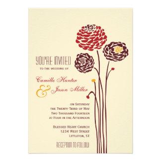 Dalia simple - boda texturizado rústico del otoño comunicados personales