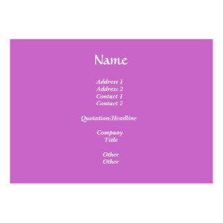 Dalia violeta/púrpura tarjetas de visita grandes