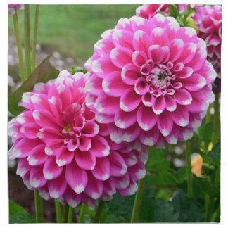 Dalias rosadas hermosas en la plena floración servilletas de papel