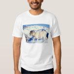 dall sheep, Ovis dalli, full curl ram on a Tshirts