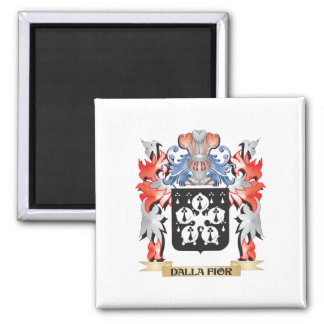 Dalla-Fior Coat of Arms - Family Crest 2 Inch Square Magnet
