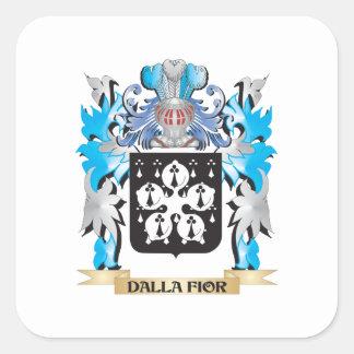 Dalla-Fior Coat of Arms - Family Crest Square Sticker