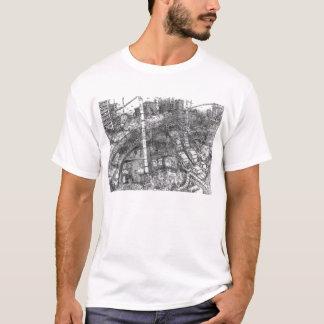 Dallas 2092 (Ink Wash) - T-Shirt (White)
