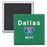 Dallas 30 2 inch square magnet