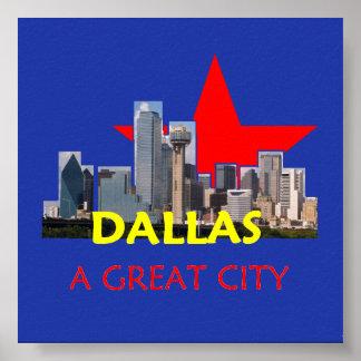 DALLAS A Great City Poster