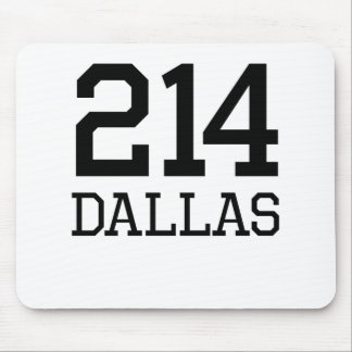 Dallas Area Code 214 Mousepad