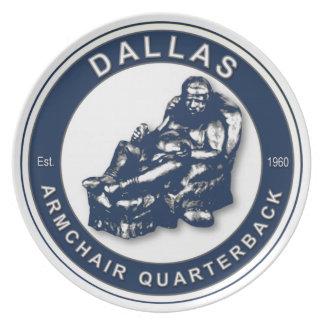 Dallas Armchair Quarterback Plate