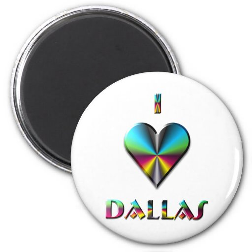 Dallas -- Blue Green & Burgundy Magnets