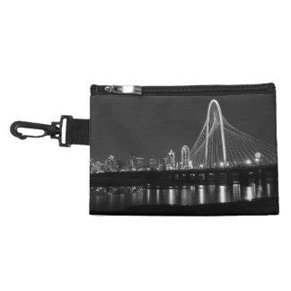 Dallas Bridge View Grayscale Accessory Bag