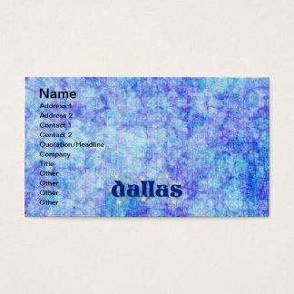 DALLAS BUSINESS CARD