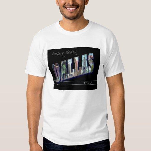 Dallas, camiseta escénica de las letras del poleras
