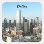 Dallas céntrica calcomanía cuadradas personalizada