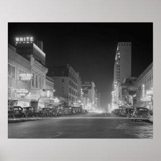 Dallas céntrica en Night, 1942 Impresiones