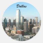 Dallas céntrica pegatinas redondas