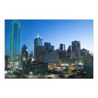 Dallas céntrica por mañana temprana arte fotografico