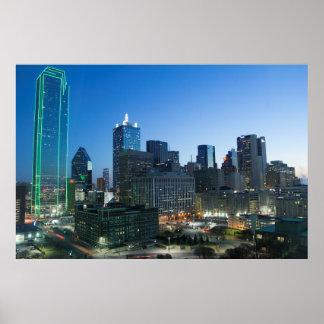 Dallas céntrica por mañana temprana póster