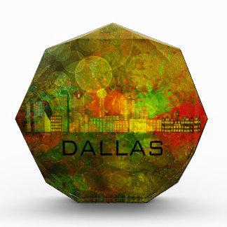 Dallas City Skyline on Grunge Background Illustrat Award