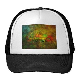 Dallas City Skyline on Grunge Background Illustrat Trucker Hat