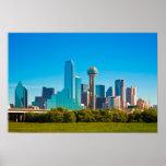 Dallas City Skyline Poster