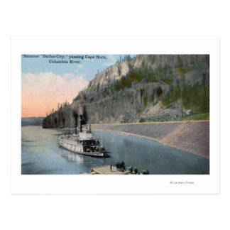 Dallas City Steamer on Columbia River Postcards