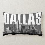 Dallas Cityscape Lumbar Pillow