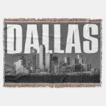 Dallas Cityscape Throw Blanket
