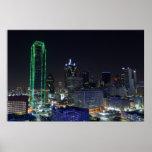 Dallas en la impresión de la noche poster