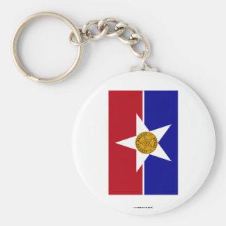 Dallas Flag Basic Round Button Keychain