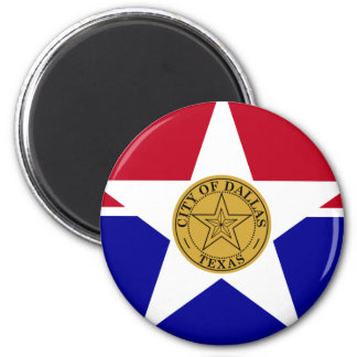 Dallas Flag 2 Inch Round Magnet
