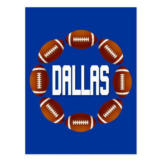DALLAS FOOTBALL CIRCLE POSTCARD
