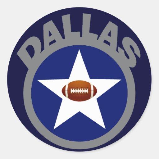Dallas Football Classic Round Sticker Zazzle