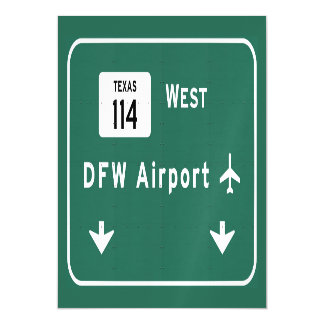 Dallas Ft Worth DFW Airport 114 Interstate Texas - Magnetic Card