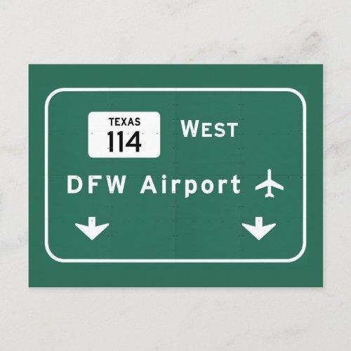 Dallas Ft Worth DFW Airport 114 Interstate Texas _ Postcard