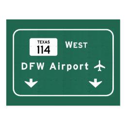 Dallas Ft Worth DFW Airport 114 Interstate Texas - Postcard