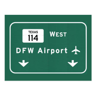 Dallas Ft Worth DFW Airport 114 Interstate Texas - Postcard