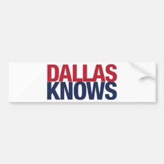 Dallas Knows Bumper Sticker