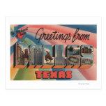 Dallas, letra ScenesDallas, TX de TexasLarge Tarjeta Postal
