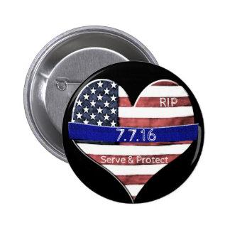 Dallas Police Memorial Pinback Button